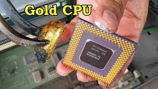How to recycle gold from cpu computer scrap. value of gold in cpu ceramic processors pins chip.