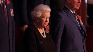 video: William and Harry reunite for Festival of Remembrance service