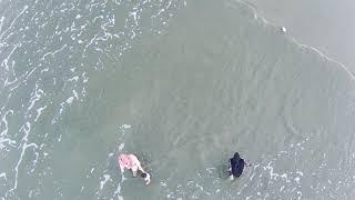 Aerial Footage On Beach