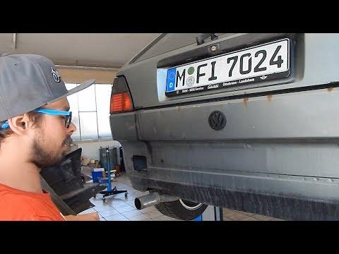 VW GOLF 2 STOßSTANGE HINTEN AUSBAUEN TUTORIAL ANLEITUNG