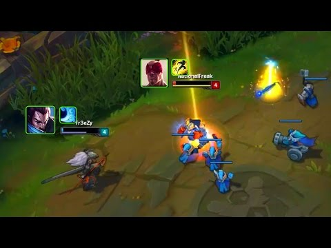 LoL Best Moments #101 Yasuo outplays Lee sin (League of Legends)
