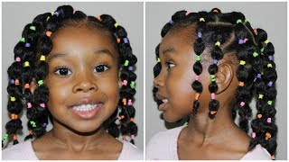 Pinterest Inspired Bubble Ponytails | Kids Natural Hairstyles