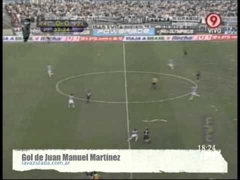 Gol do Martinez à la Messi ainda pelo Velez