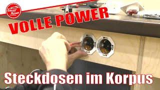 Volle Power in der Werkstatt - Steckdosen für den Schrank Korpus