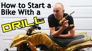 How to Start a Motorcycle With a Drill - ATV