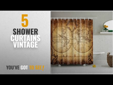 Newspaper Print Shower Curtain Product Video