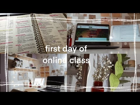 study vlog - the first day of online classes of an accounting student (dlsu-d) 🍃