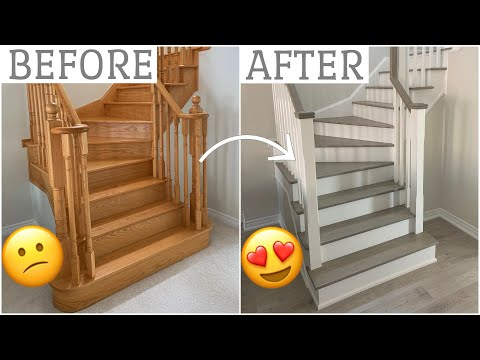 AMAZING Oak Staircase Transformation! [BEFORE & AFTER]