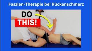 Faszienarbeit bei Rückenschmerzen: Sequenz: lateraler/seitl. Faszienzug in Anlehnung an Thomas Myers