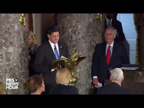 House Speaker Paul Ryan toasts Vice President Mike Pence