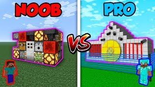 Minecraft NOOB vs. PRO: REDSTONE HOUSE in Minecraft!
