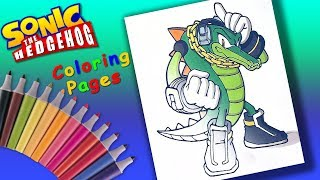 Vector the Crocodile #Sonic Hedgehog #Coloring #ForKids  Favorite game characters Coloring Pages