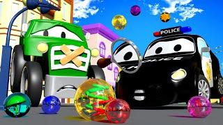 Авто Патруль - Скользкая дорога - Автомобильный Город  🚓 🚒 детский мультфильм