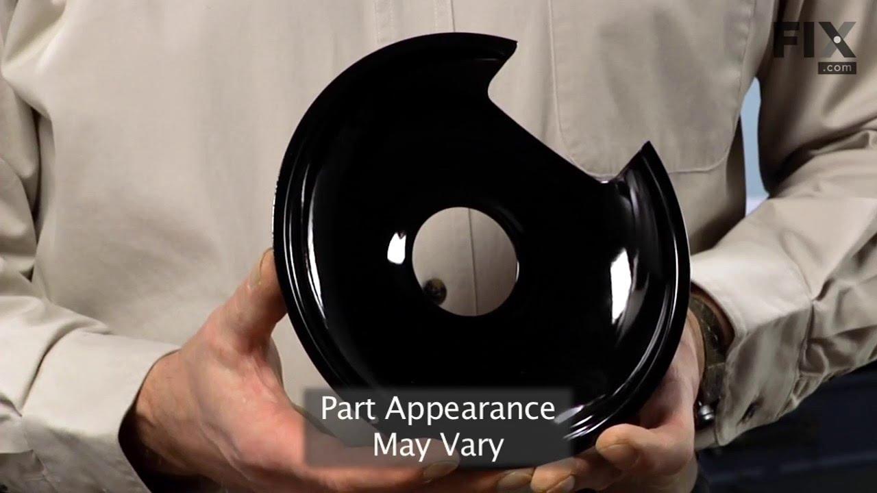 "Replacing your Maytag Range Porcelain Drip Bowl - 8"" - Black"