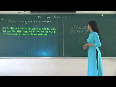 Toán 5 - Dạng toán về tỷ số phần trăm - Nguyễn Thị Tâm - Trường TH Hồng Thái - Tuyên Quang