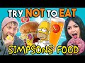 Try Not To Eat Challenge - Simpsons Food At Universal Studios   People Vs. Food