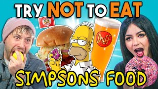 Try Not To Eat Challenge - Simpsons Food At Universal Studios | People Vs. Food