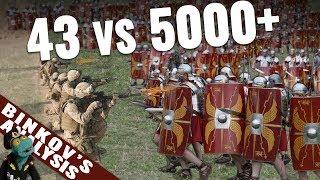 Could a USMC platoon defeat a whole Roman legion?