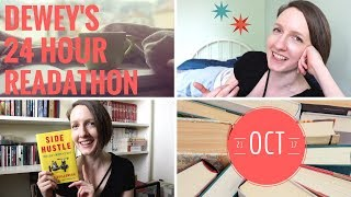 READING VLOG | Dewey's 24 Hour Readathon (CC)