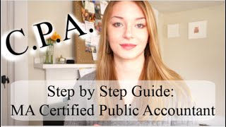 MA Certified Public Accountant: The Steps It Took