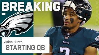 Philadelphia Eagles Name Jalen Hurts Starting Quarterback