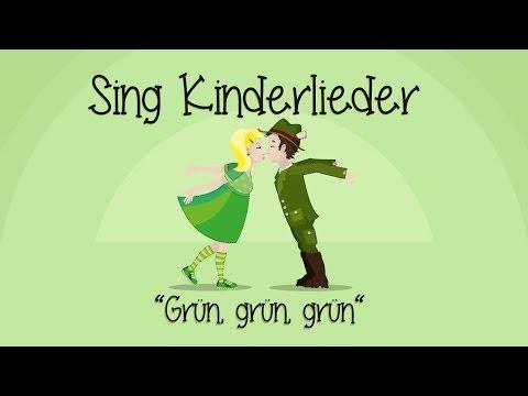 Grün, grün, grün sind alle meine Kleider - Kinderlieder zum Mitsingen | Sing Kinderlieder