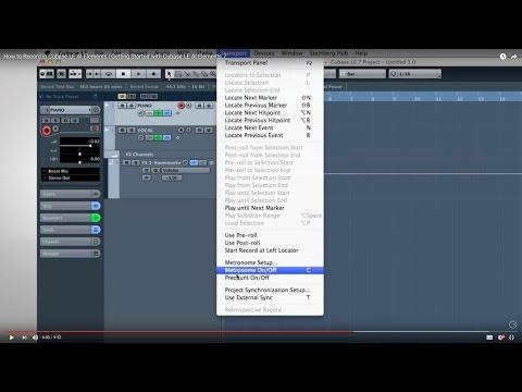 Cubase LE AI Elements 7 – Quick Start Video Tutorials – 3 – Basic Recording