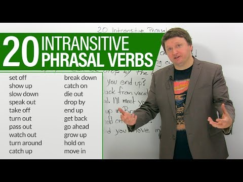 Learn 20 intransitive PHRASAL VERBS in English