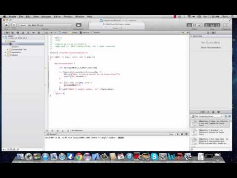 Objective-C Programming Tutorial 9- For Loops