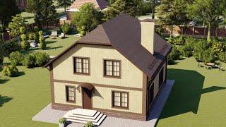 Проект дома 158-A, Площадь дома: 158 м2, Размер дома:  9,5x10,7 м