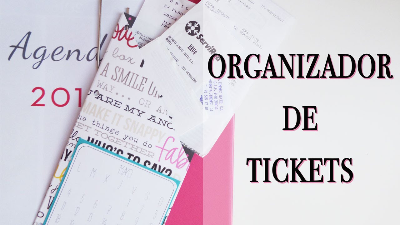 Organiza tu agenda: bolsillo para organizar tickets