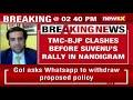 TMC-BJP Clash Ahead Of Suvendu Adhikari's Rally In Nandigram | NewsX - Video