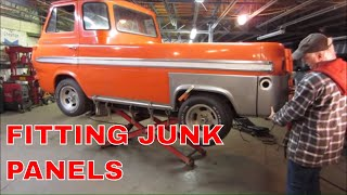 Quarter Panel Replacement on a Ratty/Rusty Econoline Pickup