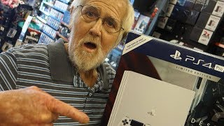 GRANDPA BOUGHT A PS4!!