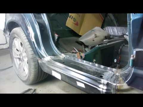 Ремонт кузова БМВ 525. ч.I  Косметический ремонт порогов.#BMWKarosseriereparatur