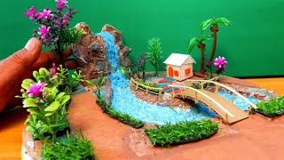Easy & Quick Miniature Fairy Garden With Waterfall #14 | DIY & Crafts Ideas