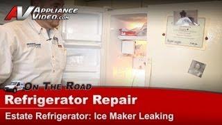 Whirlpool Estate Refrigerator Repair - Ice Maker Is Leaking - TS25AFXKT03