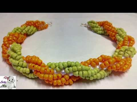 #51 How to make Pearl Beaded Double Spiral Necklace (Type 3) || Diy || Jewellery Making