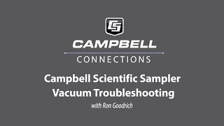 water sampler vacuum troubleshooting