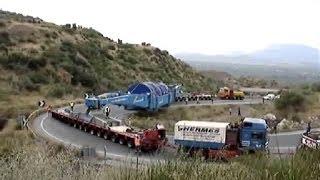 Oversize Load Trucks - Climbing the Hills