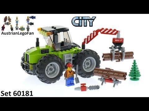 Vidéo LEGO City 60181 : Le tracteur forestier