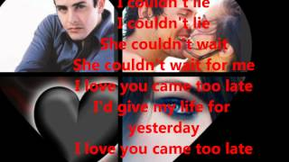 JOEY MCINTYRE/I LOVE YOU CAME TO LATE/WITH LYRICS
