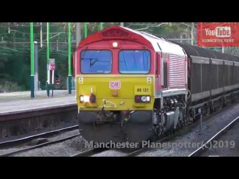 (HD) 2 Freight Trains At Northampton Station In 3Mins DB Class 66137 And FL 66568 On The 31/08/2019