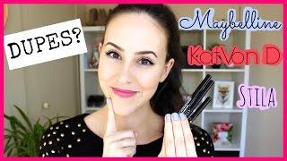 Best Eyeliner? Maybelline Master Precise VS Kat Von D Tattoo and Stila Stay All Day Eyeliner