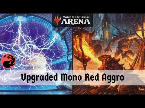 MTG Arena Beta | Upgraded New Player Mono Red DeckTech & Gameplay 4