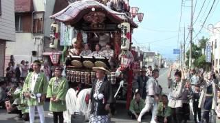 く組=熊野町平成28年度渋川山車まつり初日午後三町出発式