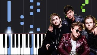 "5 Seconds Of Summer - ""If Walls Could Talk"" Piano Tutorial - Chords - How To Play - Cover"