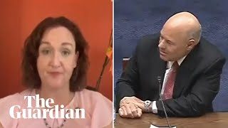 Katie Porter stumps postmaster general with postcard cost question