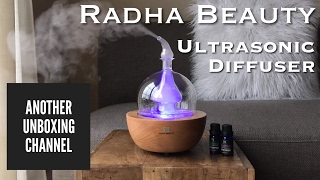 Radha Beauty Ultrasonic Essential Oil Diffuser Unboxing & Review!!
