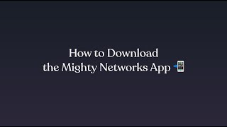 Mighty Networks video